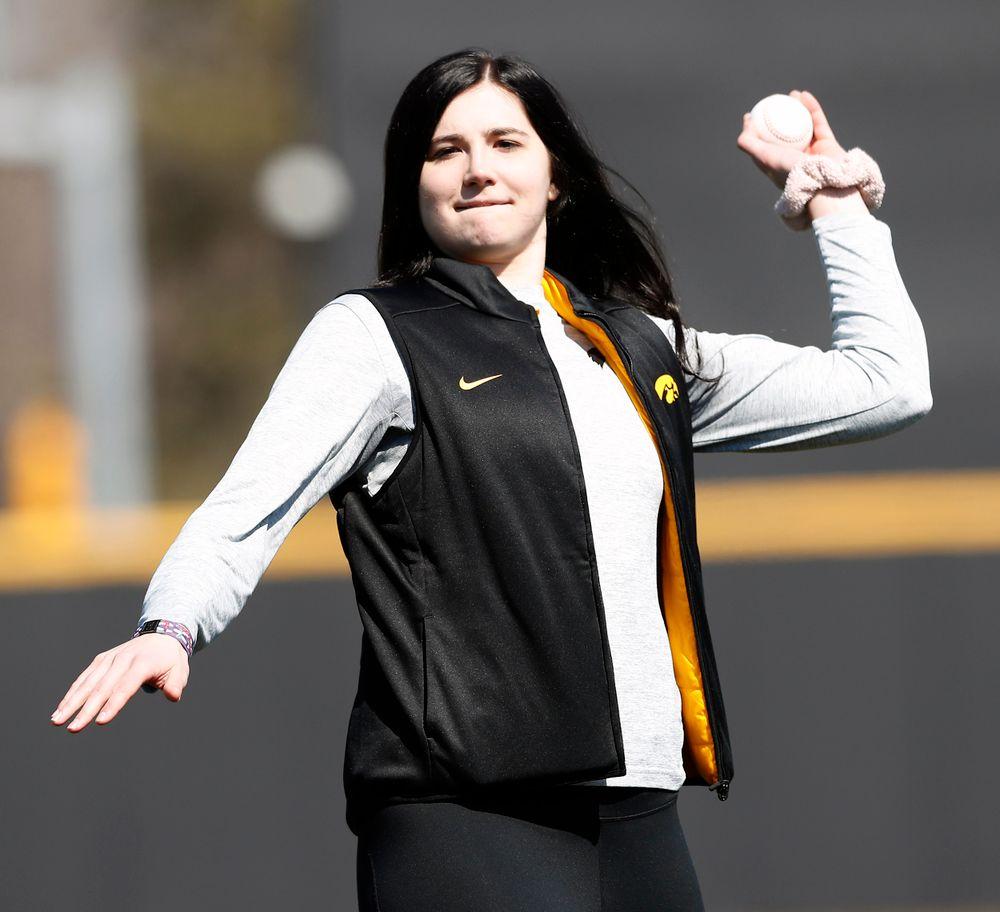 Ceremonial first pitch Megan Gustafson