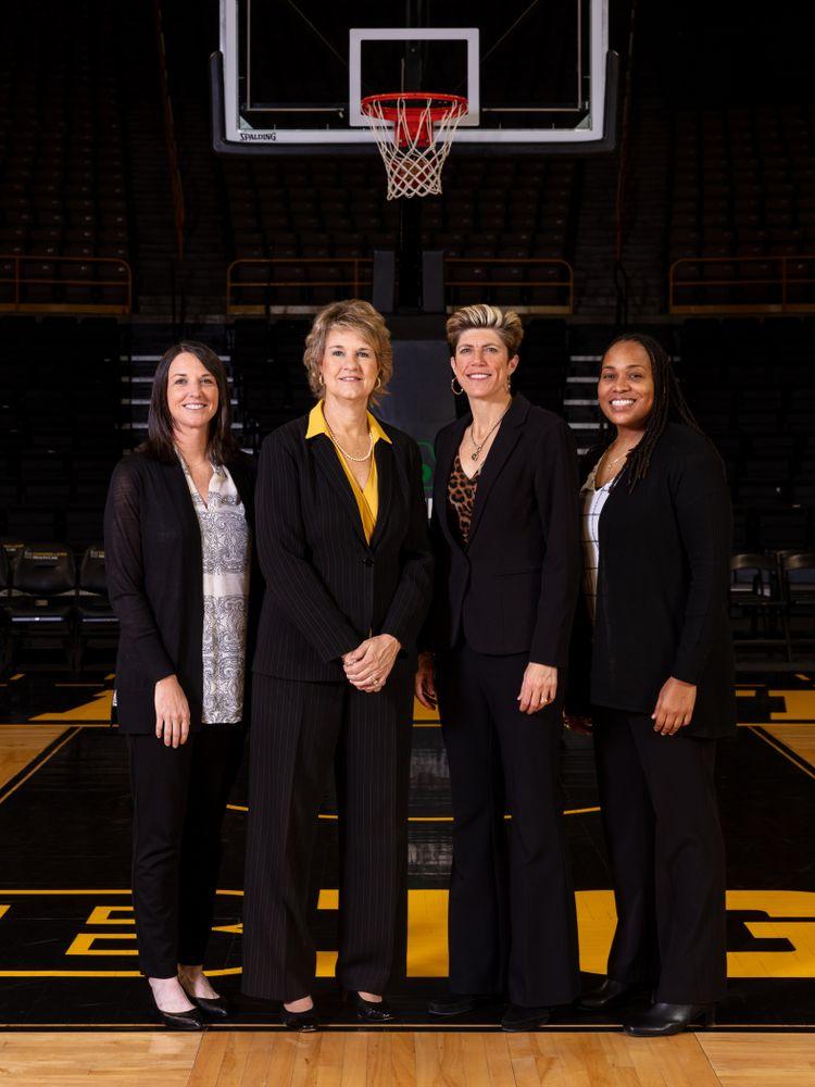 The 2019-2020 Iowa WomenÕs Basketball coaches Thursday, October 24, 2019 at Carver-Hawkeye Arena. (Brian Ray/hawkeyesports.com)