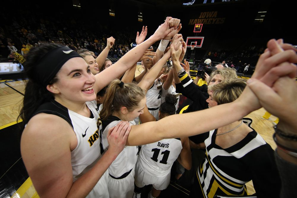 The Iowa Hawkeyes against the Rutgers Scarlet Knights Wednesday, January 23, 2019 at Carver-Hawkeye Arena. (Brian Ray/hawkeyesports.com)