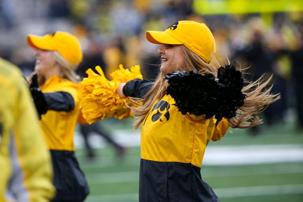 An Iowa Spirit Squad member during Iowa football vs Purdue on Saturday, October 19, 2019 at Kinnick Stadium. (Lily Smith/hawkeyesports.com)