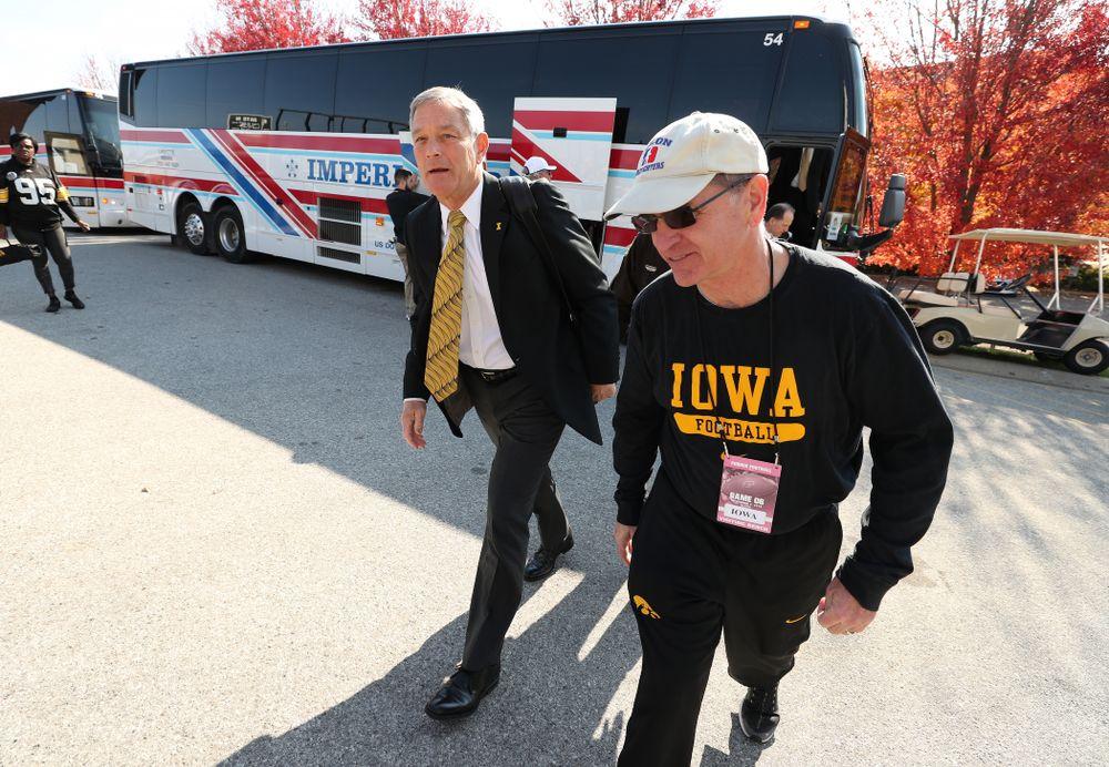 Iowa Hawkeyes head coach Kirk Ferentz against the Purdue Boilermakers Saturday, November 3, 2018 Ross Ade Stadium in West Lafayette, Ind. (Brian Ray/hawkeyesports.com)