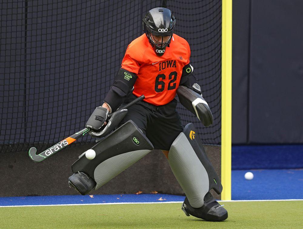 Iowa's Grace McGuire (62) blocks a shot during their practice at Karen Shelton Stadium in Chapel Hill, N.C. on Saturday, Nov 16, 2019. (Stephen Mally/hawkeyesports.com)