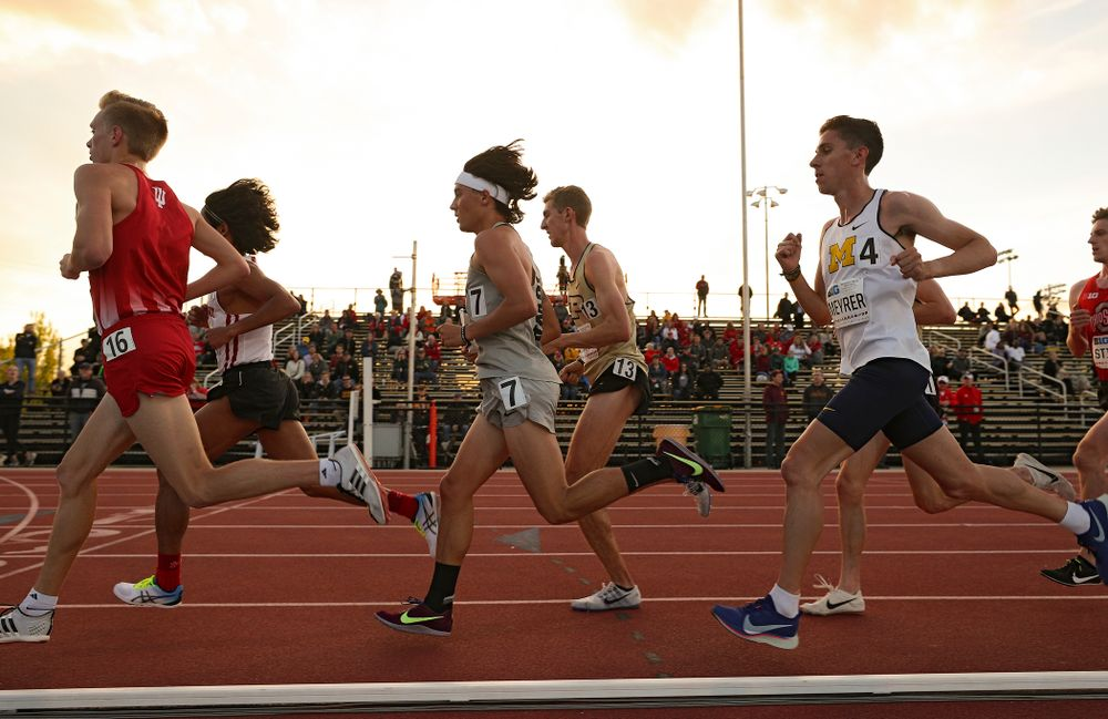 Iowa's Daniel Soto runs the men's 10,000 meter event on the first day of the Big Ten Outdoor Track and Field Championships at Francis X. Cretzmeyer Track in Iowa City on Friday, May. 10, 2019. (Stephen Mally/hawkeyesports.com)