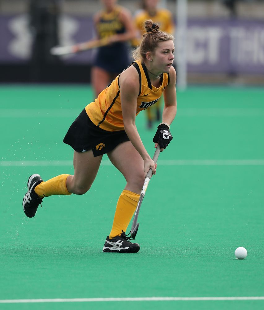 Iowa Hawkeyes Nikki Freeman (8) against the Michigan Wolverines in the semi-finals of the Big Ten Tournament Friday, November 2, 2018 at Lakeside Field on the campus of Northwestern University in Evanston, Ill. (Brian Ray/hawkeyesports.com)