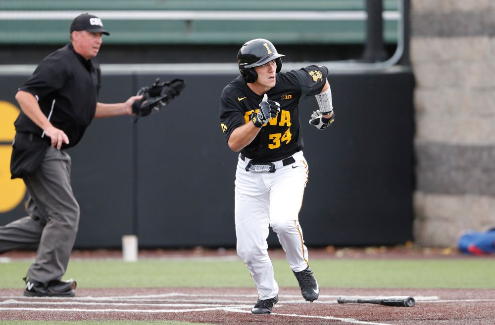 Austin Martin against the Ontario Blue Jays Friday, September 21, 2018 at Duane Banks Field. (Brian Ray/hawkeyesports.com)