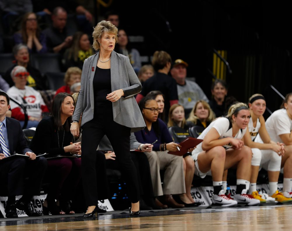 Iowa Hawkeyes head coach Lisa Bluder
