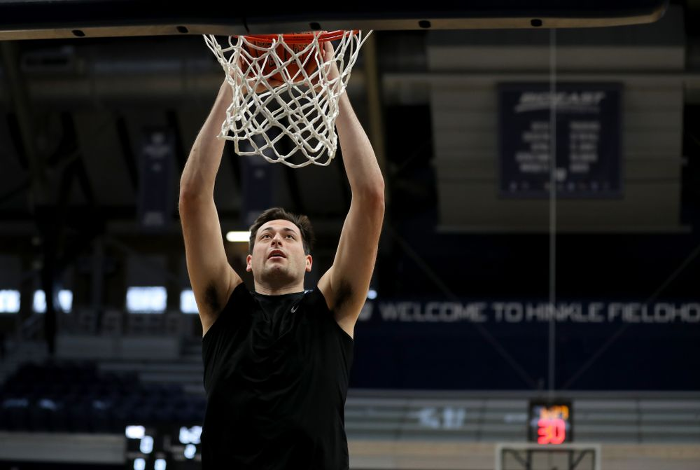 Iowa Hawkeyes forward Ryan Kriener (15) during practice at Hinkle Fieldhouse  Wednesday, March 11, 2020 in Indianapolis. (Brian Ray/hawkeyesports.com)