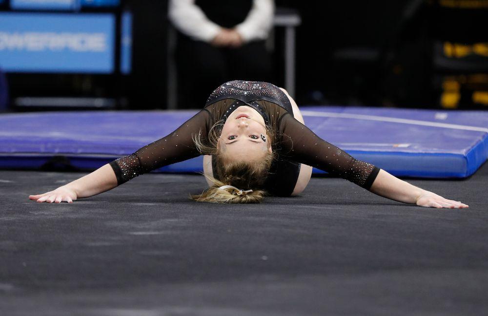 Charlotte Sullivan competes on the floor