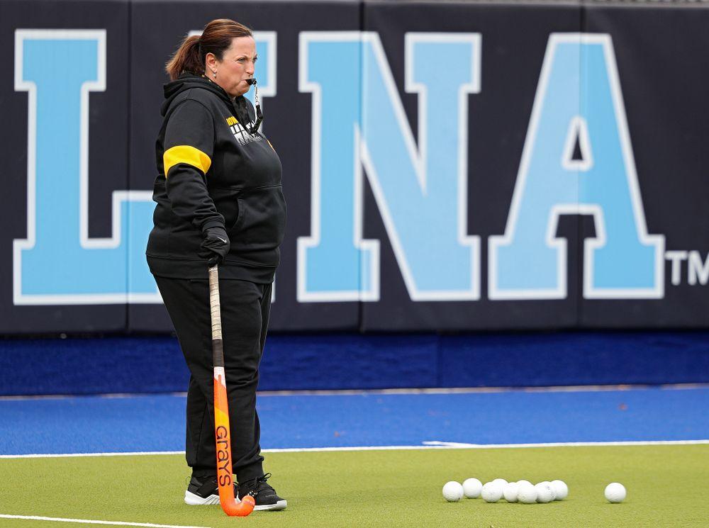 Iowa head coach Lisa Cellucci during their practice at Karen Shelton Stadium in Chapel Hill, N.C. on Thursday, Nov 14, 2019. (Stephen Mally/hawkeyesports.com)