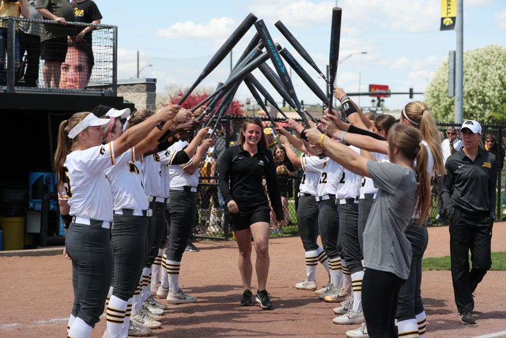 Graduate Assistant Athletic Trainer Haley Simmons during senior day festivities following their game against the Ohio State Buckeyes Sunday, May 5, 2019 at Pearl Field. (Brian Ray/hawkeyesports.com)ic