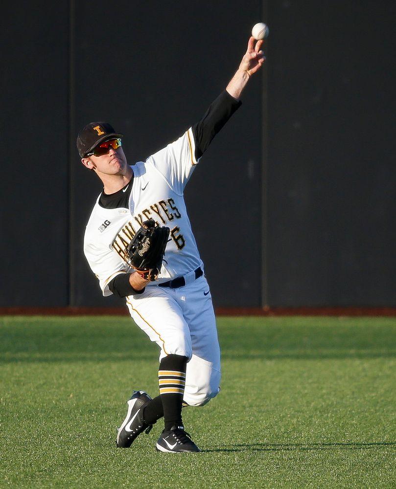 Iowa Hawkeyes outfielder Justin Jenkins (6)