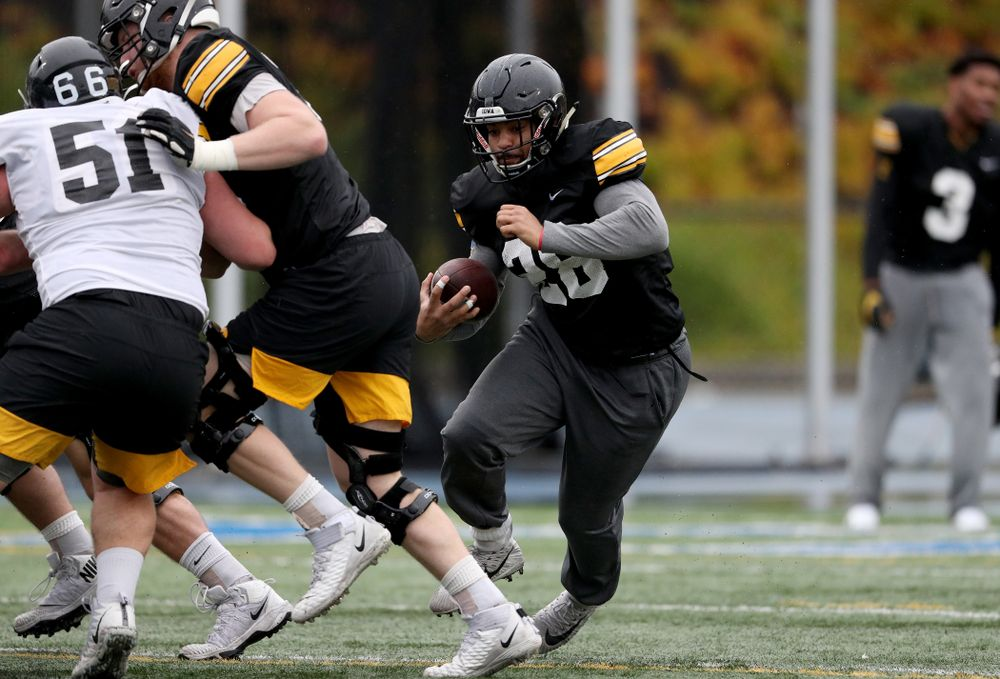 Iowa Hawkeyes running back Toren Young (28) during practice Monday, December 23, 2019 at Mesa College in San Diego. (Brian Ray/hawkeyesports.com)