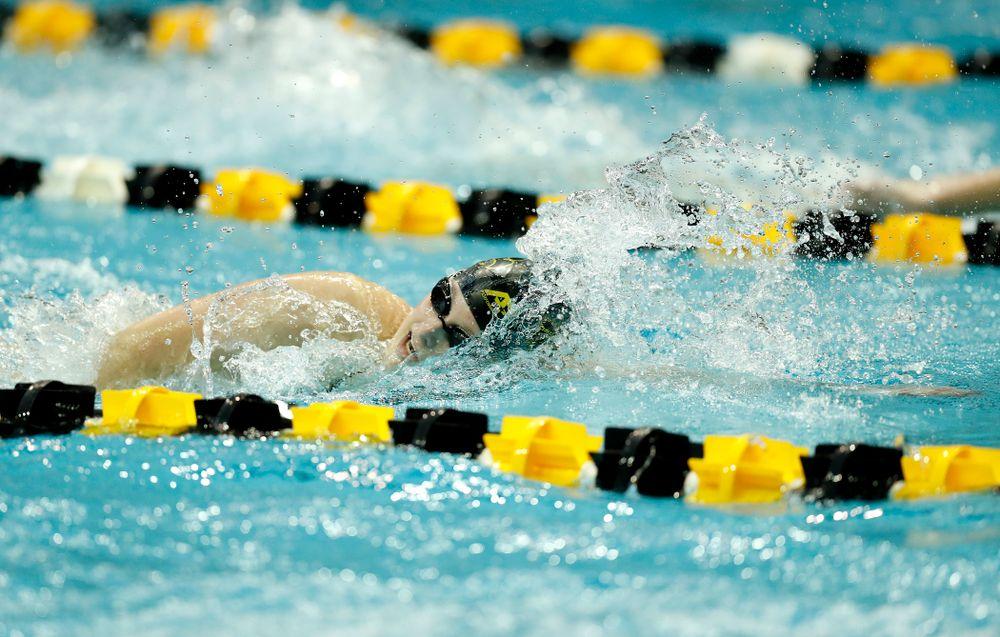Iowa's Mallory Fox swims the 200 yard freestyle