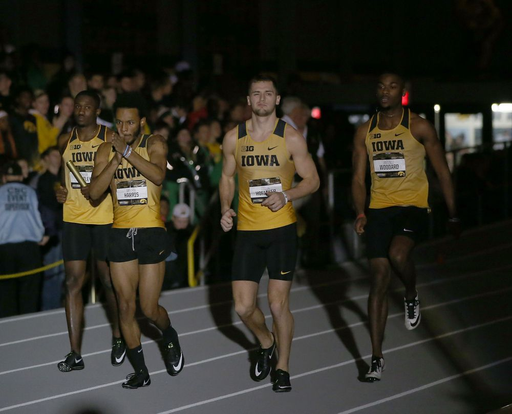 Iowa men's 4x400 relay A (Darren Miller/hawkeyesports.com)
