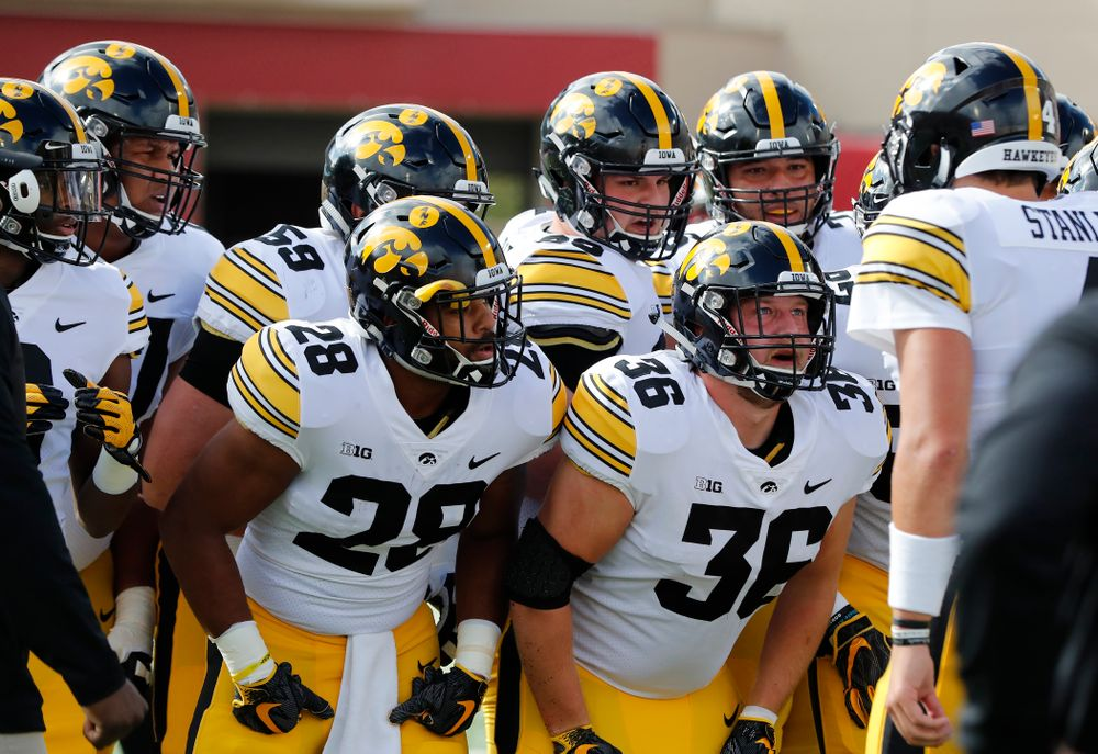 The Iowa Hawkeyes against the Indiana Hoosiers Saturday, October 13, 2018 at Memorial Stadium, in Bloomington, Ind. (Brian Ray/hawkeyesports.com)