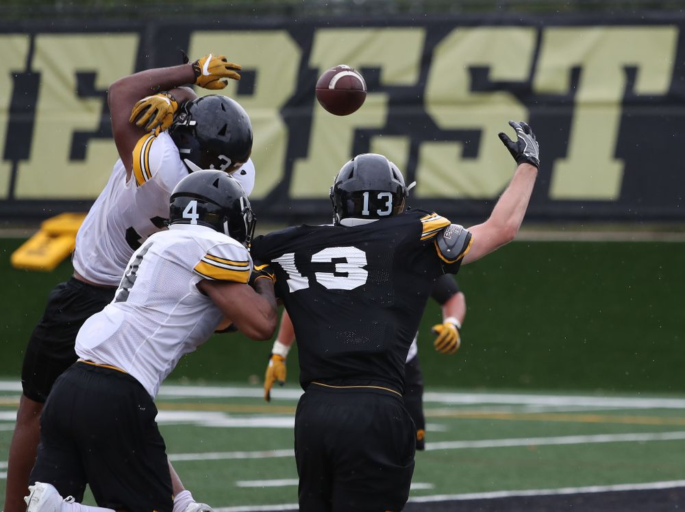 Iowa Hawkeyes defensive back Djimon Colbert (32) during practice No. 4 of Fall Camp Monday, August 6, 2018 at the Hansen Football Performance Center. (Brian Ray/hawkeyesports.com)