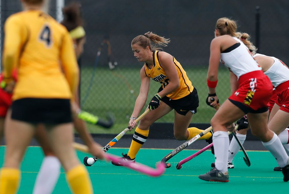 Iowa Hawkeyes Sophie Sunderland (20) against Maryland Sunday, October 14, 2018 at Grant Field. (Brian Ray/hawkeyesports.com)
