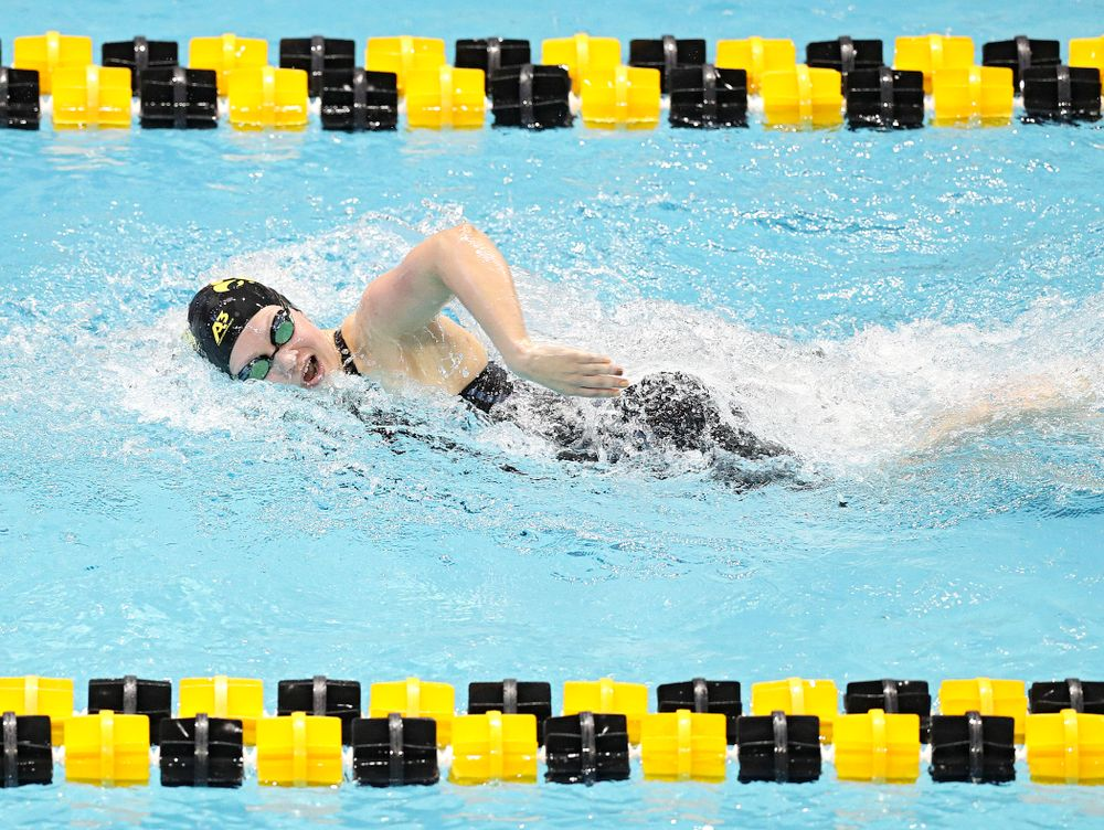 Iowa's Lauren McDougall swims the women's 200 yard freestyle preliminary event during the 2020 Women's Big Ten Swimming and Diving Championships at the Campus Recreation and Wellness Center in Iowa City on Friday, February 21, 2020. (Stephen Mally/hawkeyesports.com)