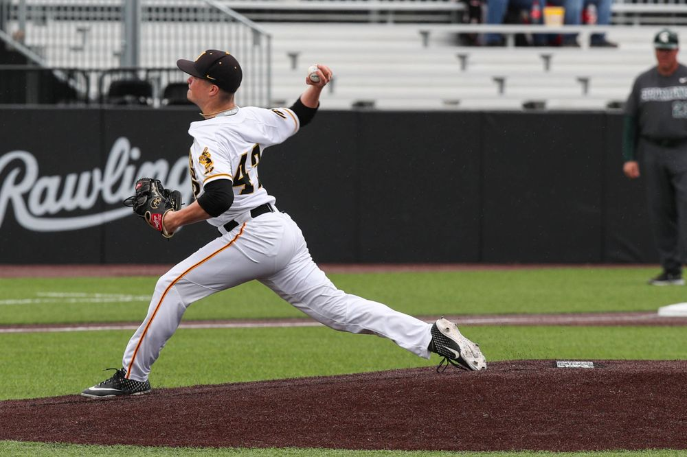 Iowa pitcher Trace Hoffman  during baseball vs Michigan State game 3 at Duane Banks Field on Sunday, May 12, 2019. (Lily Smith/hawkeyesports.com)