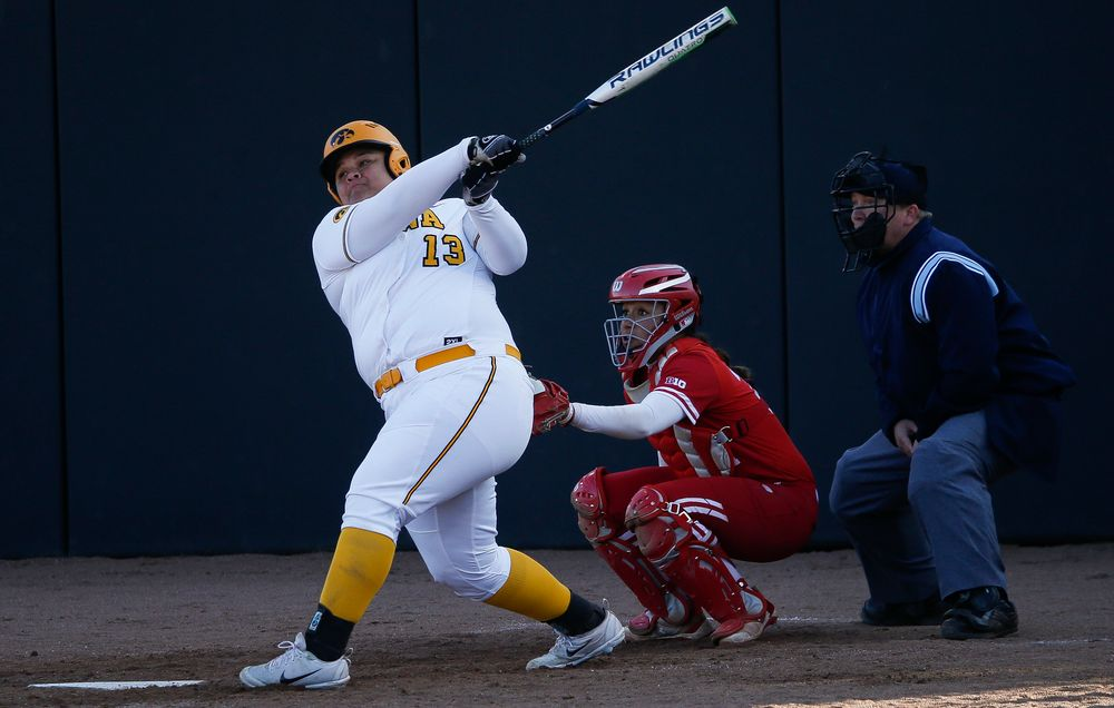 Iowa Hawkeyes catcher Devin Cantu (13)