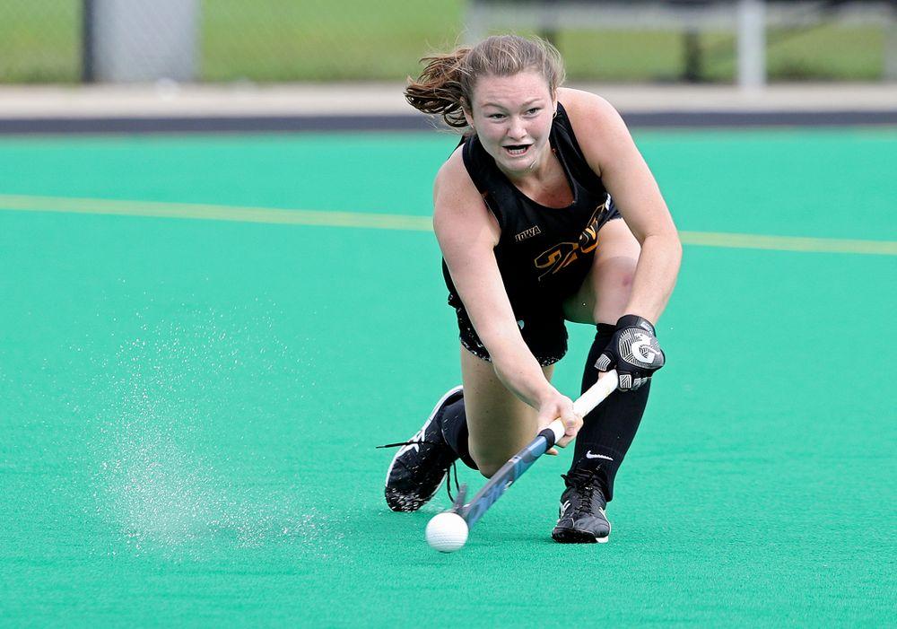 Iowa's Ellie Flynn (22) runs a drill during practice at Grant Field in Iowa City on Thursday, Aug 15, 2019. (Stephen Mally/hawkeyesports.com)