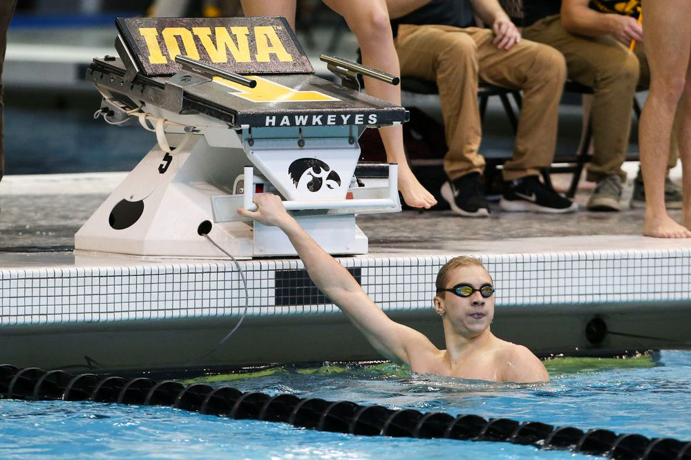 Iowa's Aleksey Tarasenko during Iowa swim and dive vs Minnesota on Saturday, October 26, 2019 at the Campus Wellness and Recreation Center. (Lily Smith/hawkeyesports.com)