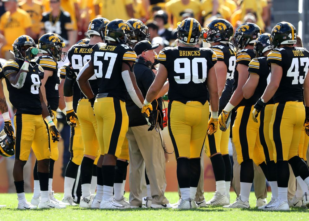 Iowa Hawkeyes defensive line coach Reese Morgan against the Mississippi State Bulldogs in the Outback Bowl Tuesday, January 1, 2019 at Raymond James Stadium in Tampa, FL. (Brian Ray/hawkeyesports.com)