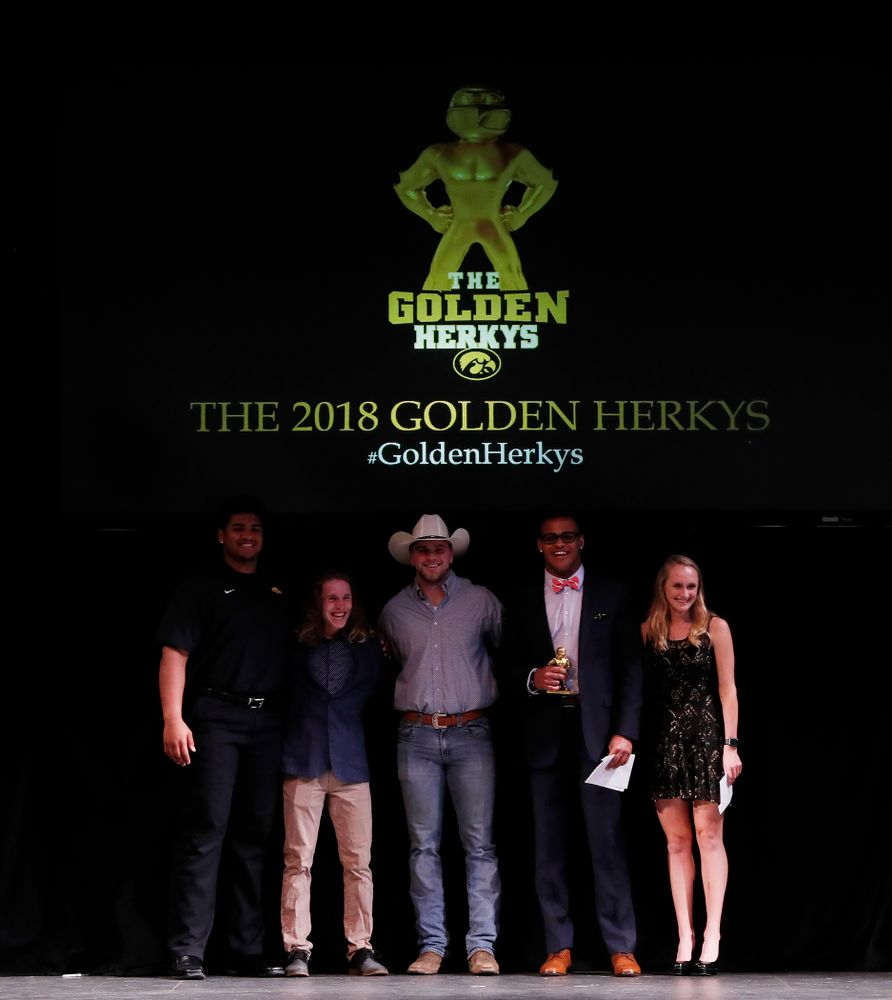 The 2018 Golden Herkys Wednesday, May 2, 2018 at the Englert Theater in downtown Iowa City. (Brian Ray/hawkeyesports.com)