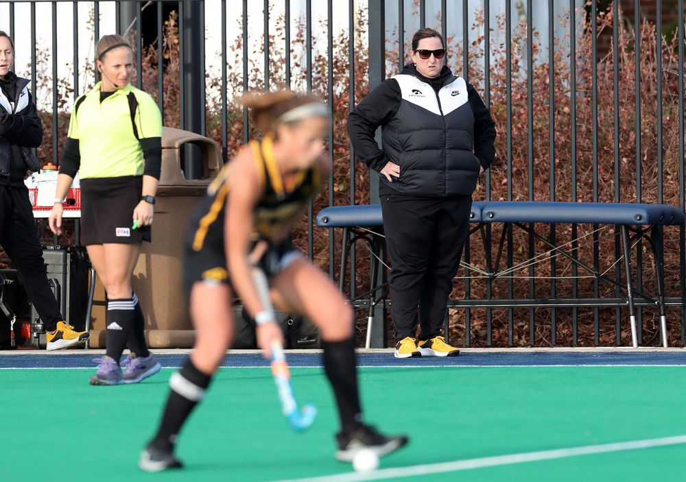 Iowa Hawkeyes head coach Lisa Cellucci against Penn State in the 2019 Big Ten Field Hockey Tournament Championship Game Sunday, November 10, 2019 in State College. (Brian Ray/hawkeyesports.com)