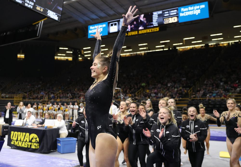 Iowa's Bridget Killian competes on the beam during their meet against Southeast Missouri State Friday, January 11, 2019 at Carver-Hawkeye Arena. (Brian Ray/hawkeyesports.com)
