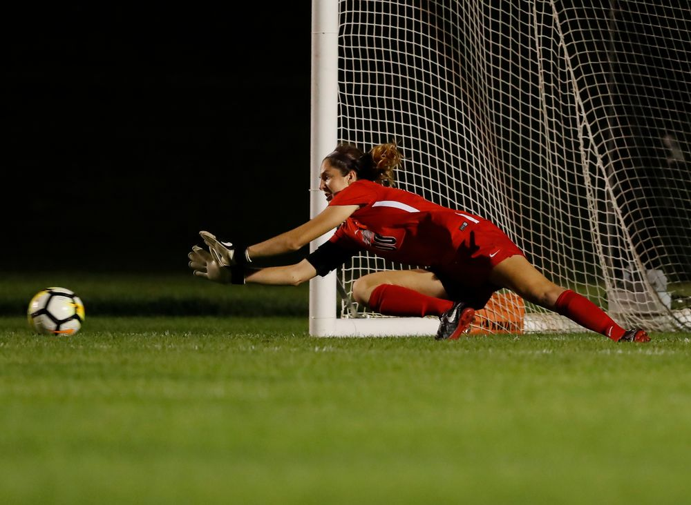 Iowa Hawkeyes Cora Meyers (0) against the Purdue Boilermakers Thursday, September 20, 2018 at the Iowa Soccer Complex. (Brian Ray/hawkeyesports.com)