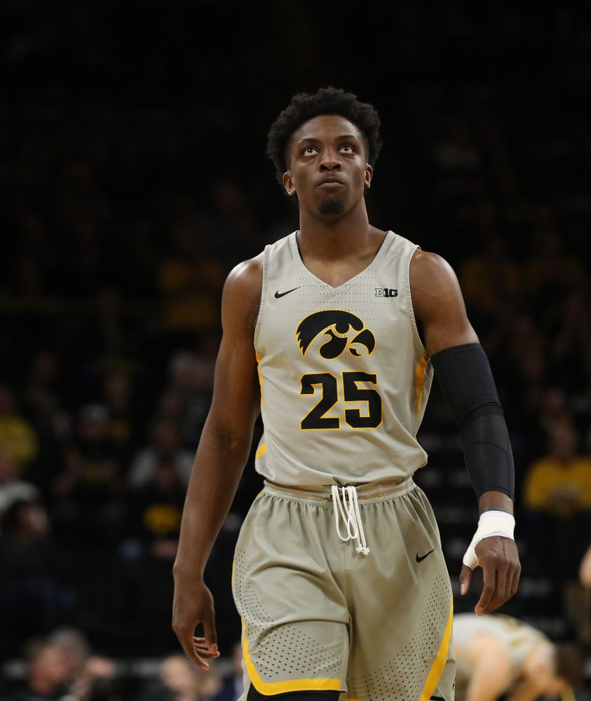 Iowa Hawkeyes forward Tyler Cook (25) against the Michigan State Spartans Thursday, January 24, 2019 at Carver-Hawkeye Arena. (Brian Ray/hawkeyesports.com)