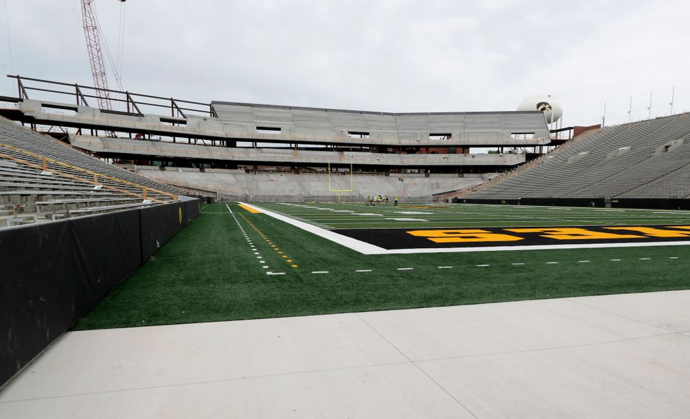 The view of the north end zone from the southwest corner  Wednesday, June 6, 2018 at Kinnick Stadium. (Brian Ray/hawkeyesports.com)