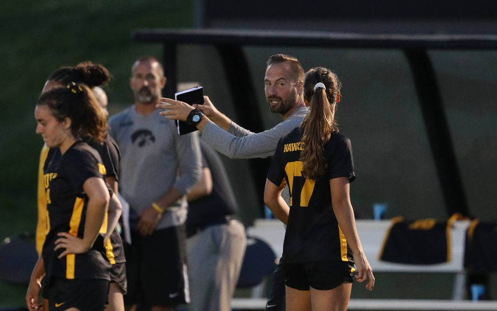 Drago Ceranic Assistant Coach against Western Michigan Thursday, August 22, 2019 at the Iowa Soccer Complex. (Brian Ray/hawkeyesports.com)
