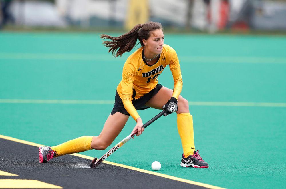 Iowa Hawkeyes Isabella Brown (10) against Maryland Sunday, October 14, 2018 at Grant Field. (Brian Ray/hawkeyesports.com)
