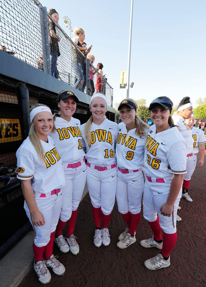 Claire Fritsch (7), Allie Wood (17), Brooke Rozier (16), Sarah Kurtz (9), Ashley Yoways (36)