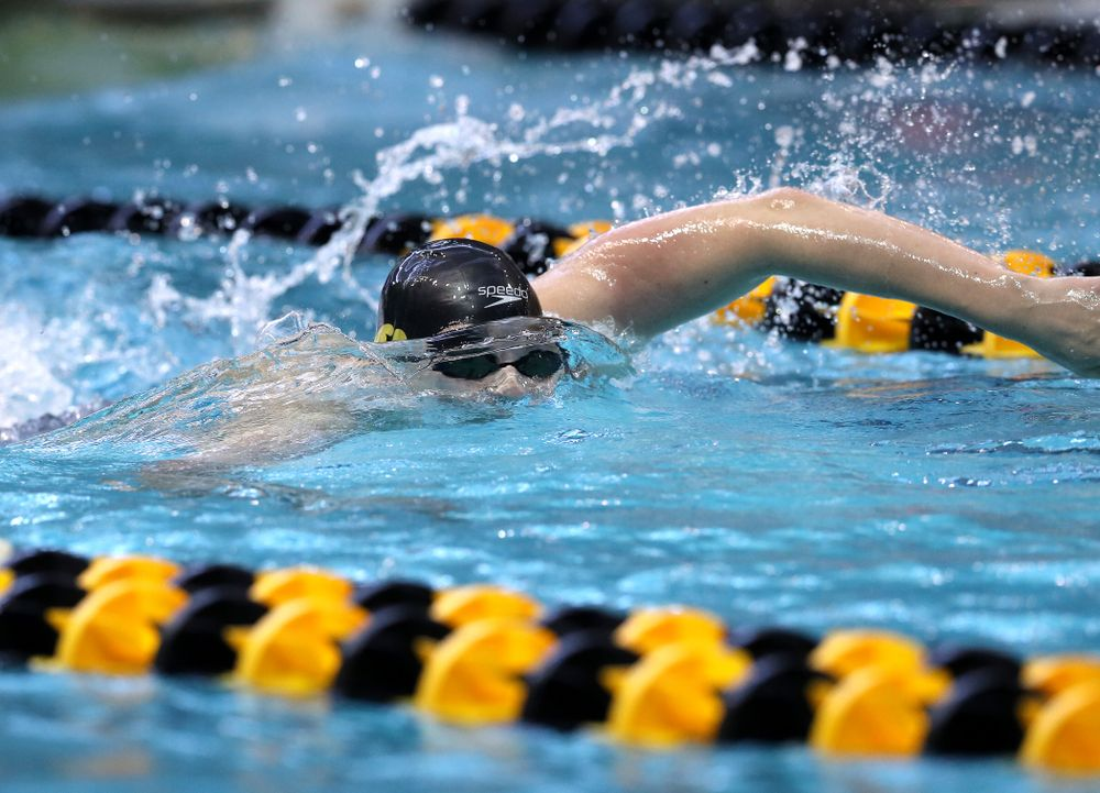 Iowa's Jackson Allmon competes in the 200-yard freestyle on the third day at the 2019 Big Ten Swimming and Diving Championships Thursday, February 28, 2019 at the Campus Wellness and Recreation Center. (Brian Ray/hawkeyesports.com)