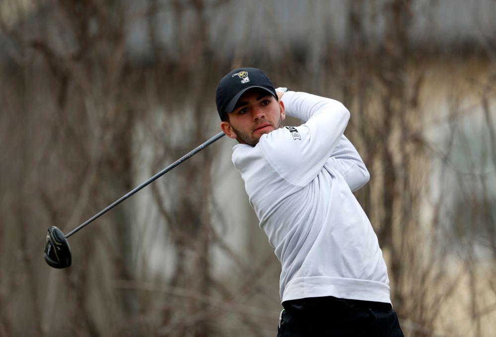 Jack Simpson during the 2018 Hawkeye Invitational  Friday, April 13, 2018 at Finkbine Golf Course. (Brian Ray/hawkeyesports.com)
