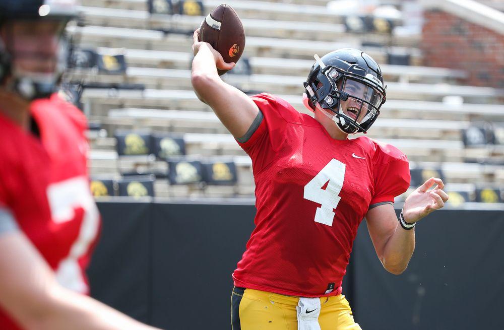 Iowa Hawkeyes quarterback Nathan Stanley (4)