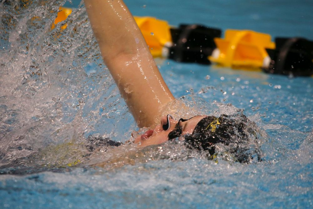 Hannah Burvill during Iowa women's swimming and diving vs Rutgers on Friday, November 8, 2019 at the Campus Wellness and Recreation Center. (Lily Smith/hawkeyesports.com)