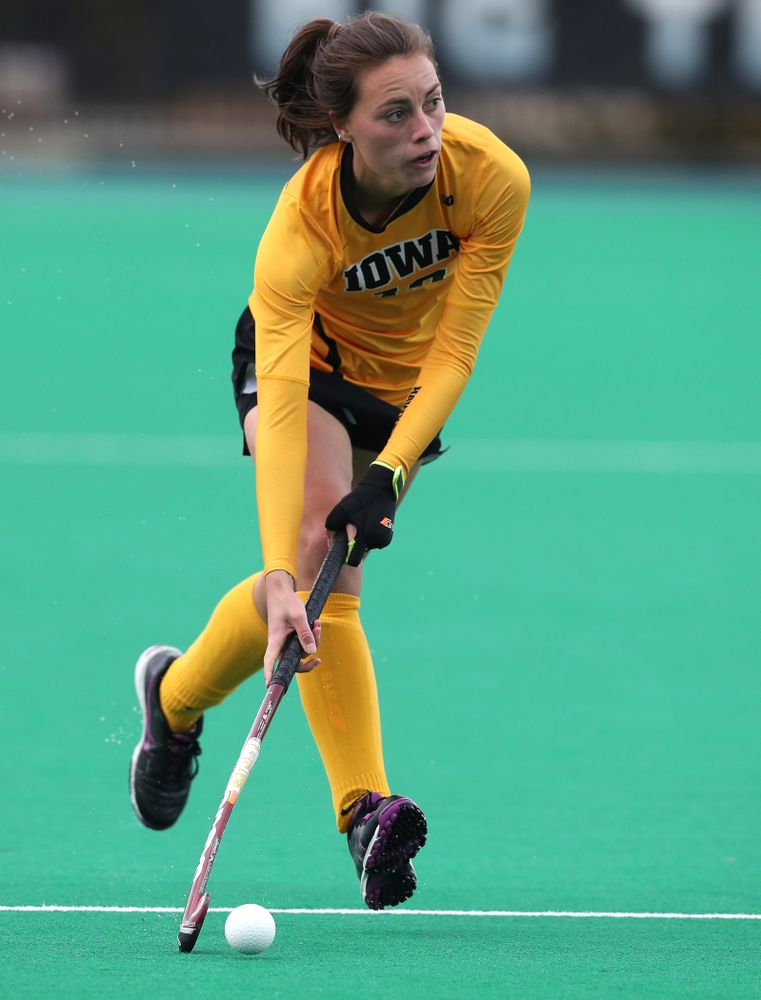 Iowa Hawkeyes Isabella Brown (10) against the Michigan Wolverines in the semi-finals of the Big Ten Tournament Friday, November 2, 2018 at Lakeside Field on the campus of Northwestern University in Evanston, Ill. (Brian Ray/hawkeyesports.com)