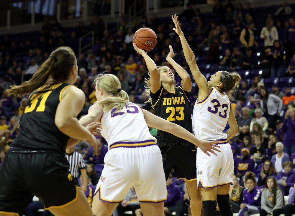 Iowa Hawkeyes Logan Cook (23) against Northern Iowa Sunday, November 17, 2019 at the McLeod Center. (Brian Ray/hawkeyesports.com)