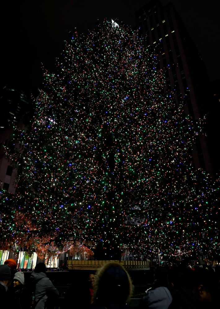 Tree in Rockefeller Center -- President's Welcome Reception at Yankees Steakhouse