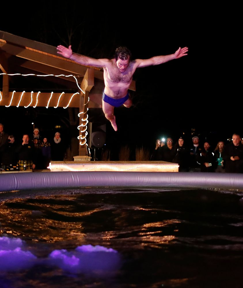 The Hawkeye Wrestling Club Arctic Plunge Saturday, January 27, 2018 at Brown Dear Golf Course in Coralville. (Brian Ray/hawkeyesports.com)