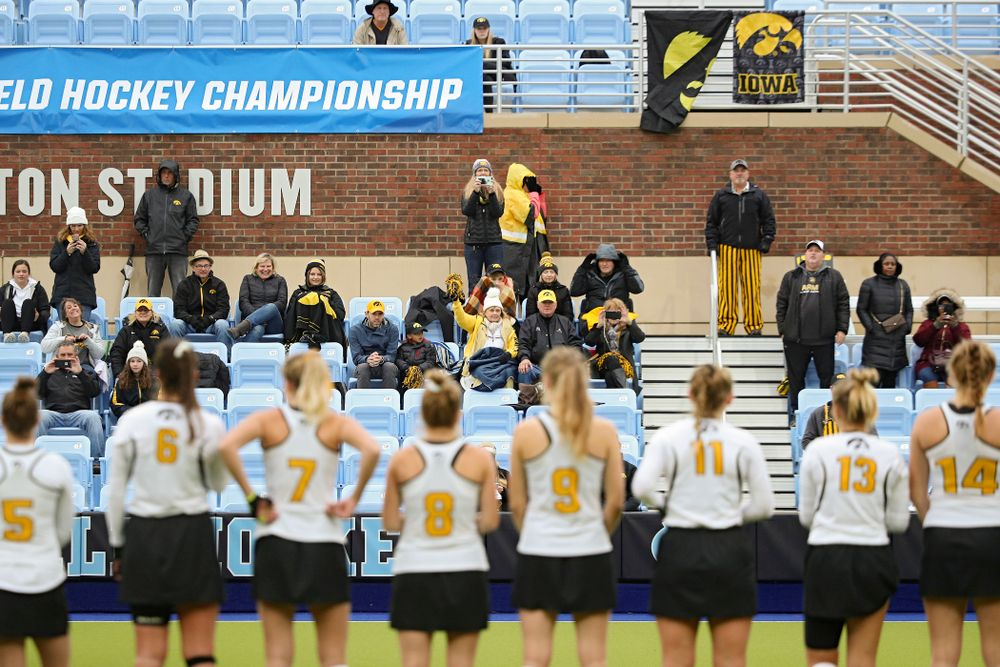 Iowa fans cheer on the Hawkeyes before the NCAA Tournament First Round match against Duke at Karen Shelton Stadium in Chapel Hill, N.C. on Friday, Nov 15, 2019. (Stephen Mally/hawkeyesports.com)