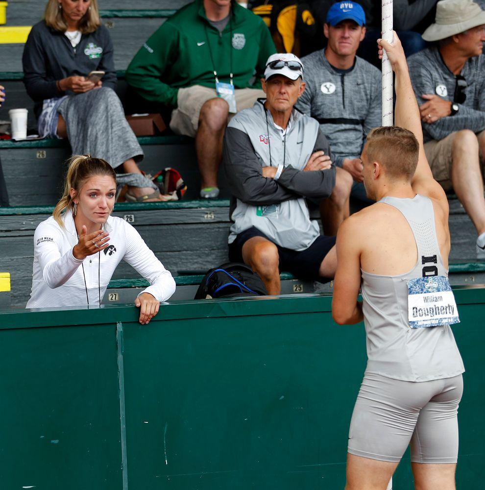 Coach Paige Knodle, William Dougherty, Dec pole vault