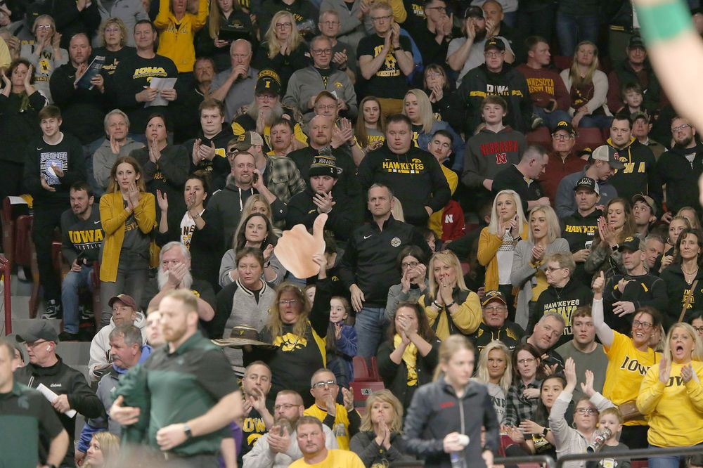 Hawkeye fans at Williams Arena