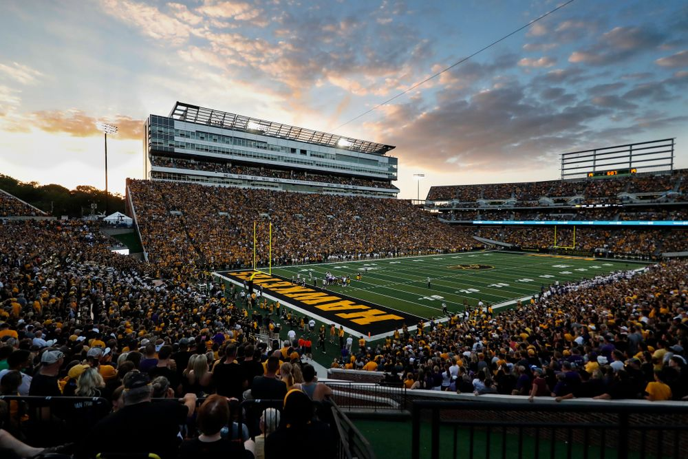 The Iowa Hawkeyes against the Northern Iowa Panthers Saturday, September 15, 2018 at Kinnick Stadium. (Brian Ray/hawkeyesports.com)