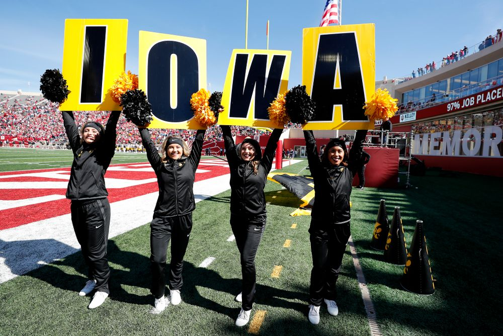 The Iowa Spirit Squad against the Indiana Hoosiers Saturday, October 13, 2018 at Memorial Stadium, in Bloomington, Ind. (Brian Ray/hawkeyesports.com)