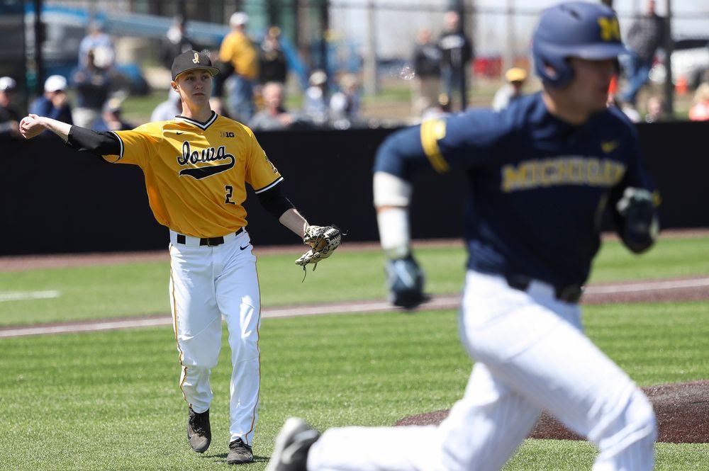 Iowa Hawkeyes pitcher Zach Daniels (2)